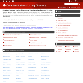 canadianbusinesslisting ca at WI  Canadian Business Listing