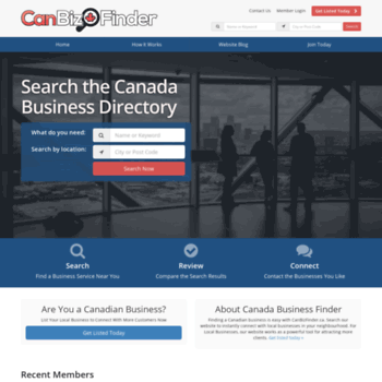 canbizfinder ca at WI  Canada Business Directory - Free Local