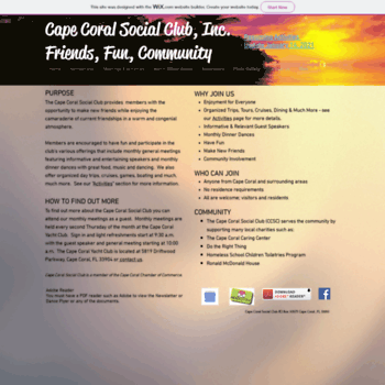 Capecoralsocialclub.org thumbnail