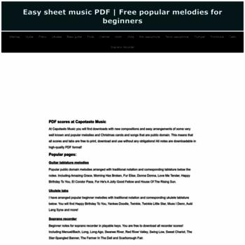 Capotastomusic Com At Wi Free Printable Sheet Music Download Easy