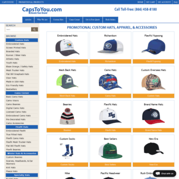 1acebbafa2d07 capstoyou.com at WI. Custom Promotional Hats