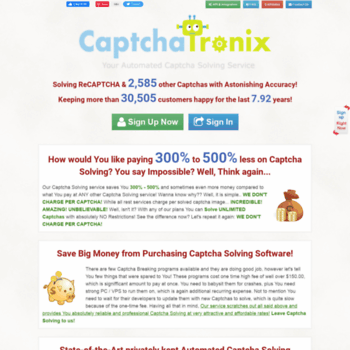 captchatronix com at WI  CAPTCHATRONIX - Fast, Cheap & Accurate
