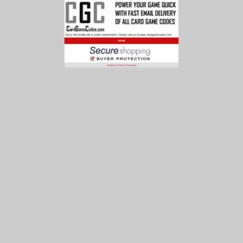 Cardgamecodes.com thumbnail