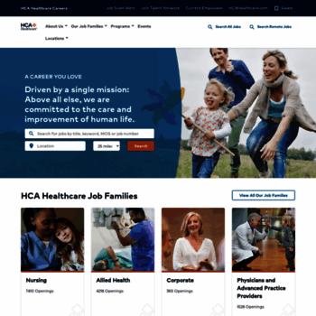 careersathca com at WI  Careers at HCA Healthcare   HCA