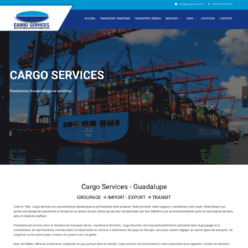 Cargoservices.fr thumbnail