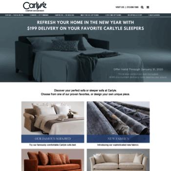 Awe Inspiring Carlylesofa Com At Wi Custom Sofas Sofa Beds Sectionals Cjindustries Chair Design For Home Cjindustriesco