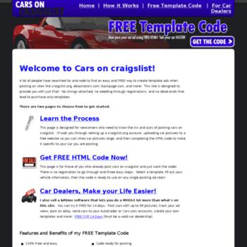 cars-on-craigslist com at WI  Cars On Craigslist: Get free
