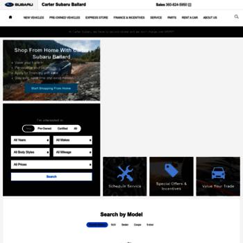 cartersubaruballard com at WI  New 2019 Subaru Dealer