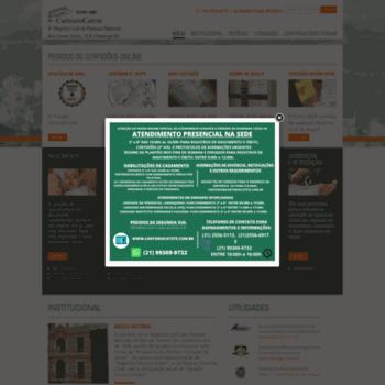 Cartoriocatete.com.br thumbnail