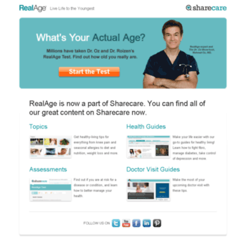 catage com at WI  RealAge is now part of Sharecare – Health