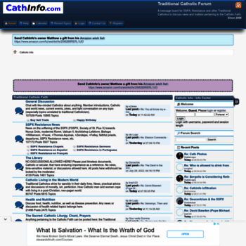 Catholic info forum