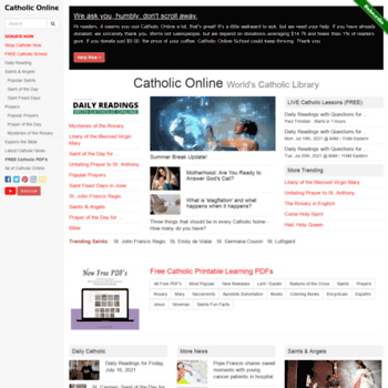 catholiconline com at WI  Catholic Online