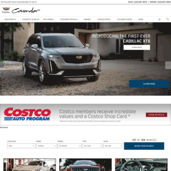 Cadillac Dealership San Antonio >> Cavendercadillac Com At Wi Cadillac Dealership San Antonio