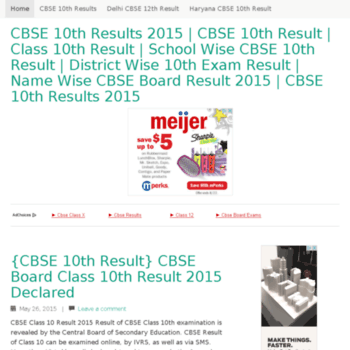cbseresults2015-nic in at WI  CBSE 10th Results 2015 | CBSE 10th
