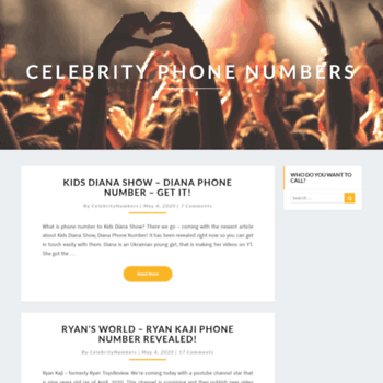 celebrity-cell com at WI  Celebrity Phone Numbers — Contact Now!