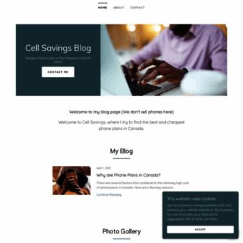 Cellsavings.ca thumbnail