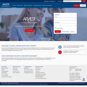 centralmortgageonline com at WI  Arvest Central Mortgage Company