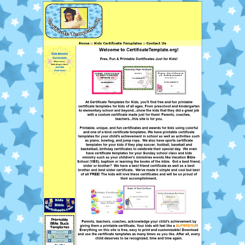 Certificatetemplate At Wi Certificate Template For Kids Free