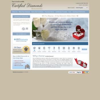 Certifieddiamond.biz thumbnail
