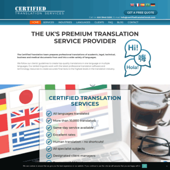 Certifiedtranslationcompany.co.uk thumbnail