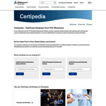 certipedia com at WI  Certipedia - Certificate Database from