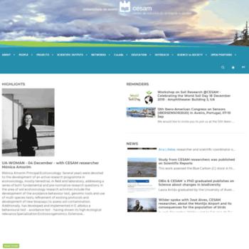 Cesam.ua.pt thumbnail