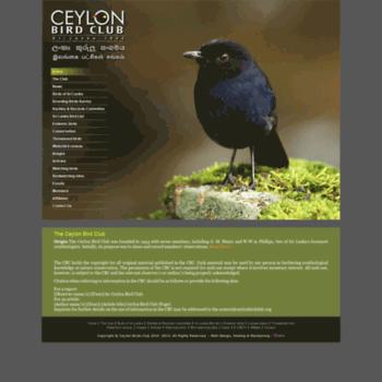 Ceylonbirdclub.org thumbnail