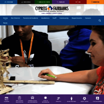 Cfisd Net At Wi Cypress Fairbanks Independent School District Home