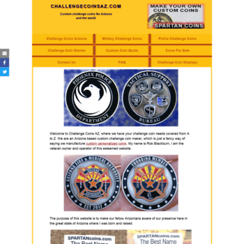 challengecoinsaz com at WI  Custom, Military, Challenge Coin