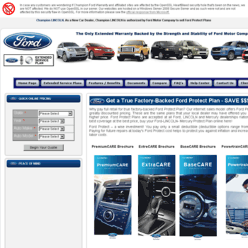 Ford Extended Warranty >> Championfordwarranty Com At Wi Ford Extended Warranty Genuine
