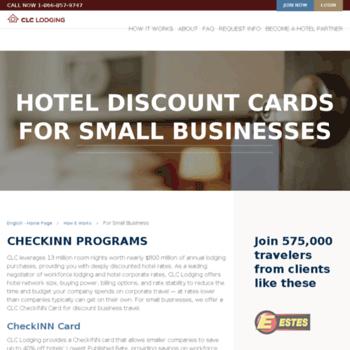 checkinncard com at WI  Checkinn Discount Hotel Card
