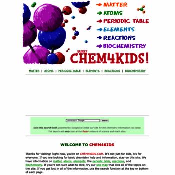 Chem4kids At Wi Raders Chem4kids Chemistry Basics For