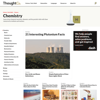 Chemistry.about.com thumbnail