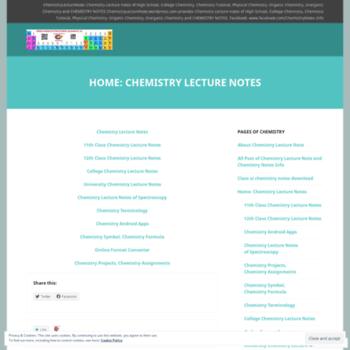 Chemistrylecturenote.wordpress.com thumbnail