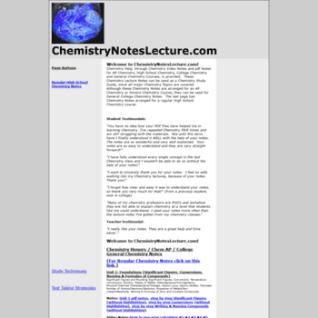 Chemistrynoteslecture.com thumbnail
