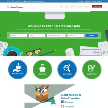 chennaifreelance com at WI  Freelance Jobs   Online Jobs   Part Time