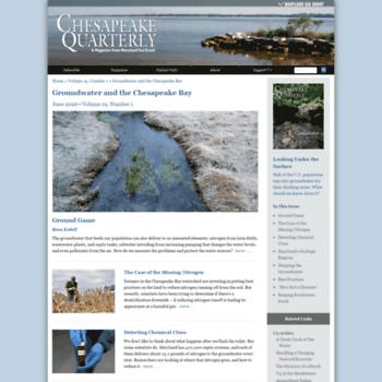 Chesapeakequarterly.net thumbnail