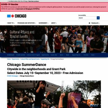 Chicagosummerdance.org thumbnail