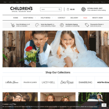 Childrensspecialoccasionwear.co.uk thumbnail