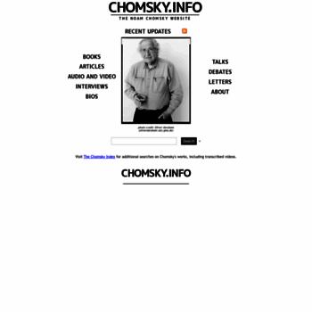 Chomsky.info thumbnail