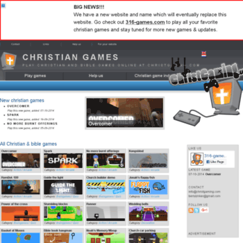 christgaming com at WI  Christian games | Play Christian and