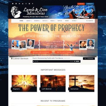 Christinprophecy.org thumbnail