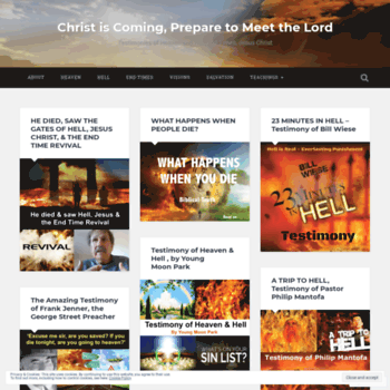 christiscoming777 com at WI  Christ is Coming, Prepare to