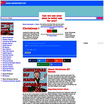 christmas namegeneratorfun com at WI  The Christmas Elf Name