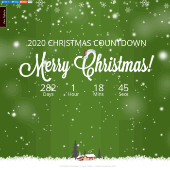 How Many Days Till Christmas 2019.Christmasdaycountdown Com At Wi Christmas Countdown 2019