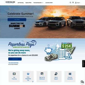 Chrysler Capital Finance >> Chryslercapital Com At Wi Chrysler Capital Auto Finance