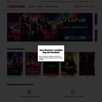 cinemark com at WI  Cinemark Theatres - Movies, Tickets and Showtimes
