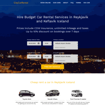 Citycarrental.is thumbnail