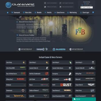 clanwarz com at WI  Sinusbot Music Bot, Ventrilo, Teamspeak