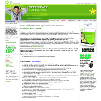 claposter com at WI  CL Auto Posting Tool - Automate your Craigslist